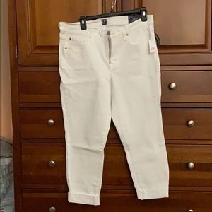 Gap white denim jeans